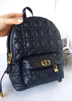 Рюкзак кожаный, чёрный