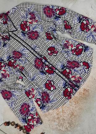 Блуза рубашка стильная в пижамной стиле кайма tu uk 18/46/xxl