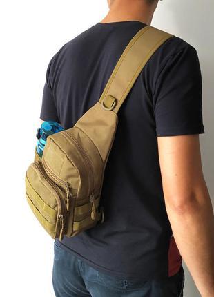 Универсальная городская сумка на 5-6 литров (койот)