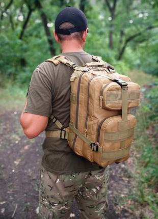 Рюкзак на 25 литров с системой м.о.l.l.e койот