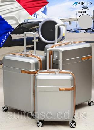 """Антиударный чемодан airtex 229 a малого размера (""""ручная кладь"""")на 4-х колесах new star"""