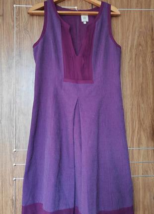 Яркое платье-сарафан шерсть шелк