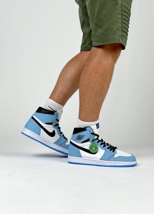 Nike air jordan retro 1 мужские кроссовки живые фото осень весна