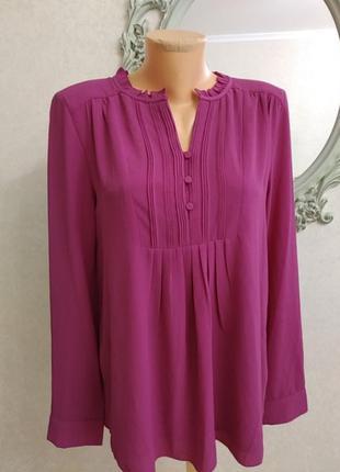 Замечательная блуза насыщенного ягодного цвета!!! новая!