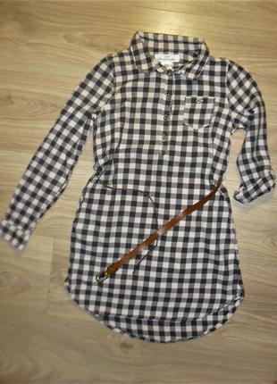 Платье/рубашка нм на 8-9лет рост 134