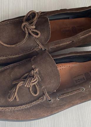 The car shoe топсайдеры мокасины туфли замшевые