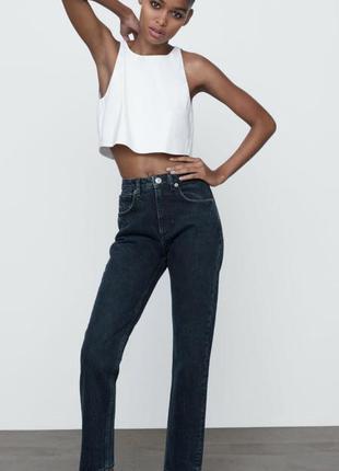 Джинси zara slim fit, женские джинсы zara mom, zara джинси
