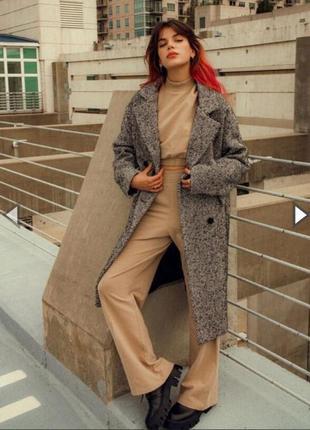 Крутое пальто от bershka! в составе шерсть 👌