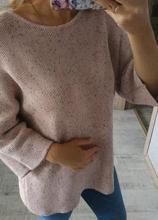 Нежный приятный свитер джемпер оверсайз