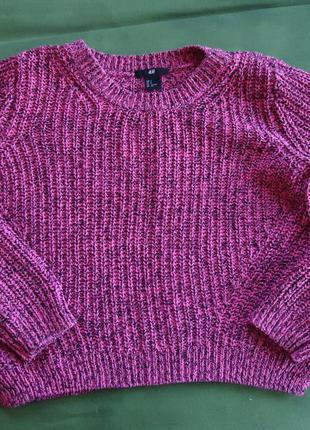Меланжевый розовый свитер