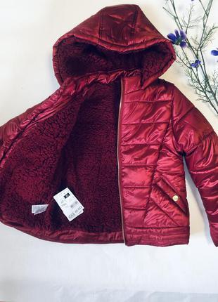 Акция!!! последнии размеры! очень тёплая зимняя курточка на эко овчине! италия