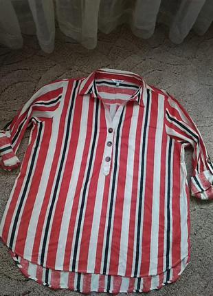 Блузка рубашка котон
