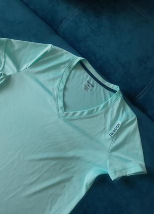 Футболка reebok мятна спотривна одяг для спорту