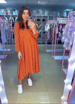 Платье миди из софта