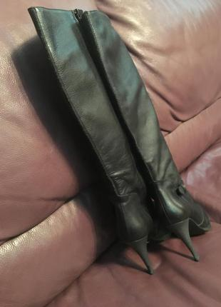 Сапоги кожаные miss sixty