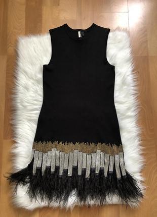 Платье натуральные перья страуса