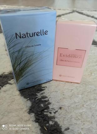 """Набор ароматов """"naturelle + intese evidence"""" , ив роше"""