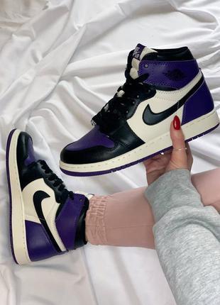 Кроссовки кеды nike jordan violet black кросівки кеди