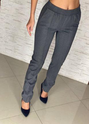Жіночі довгі теплі класичні  брюки