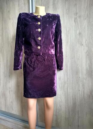 Hot couture винтажный кутюрный костюм
