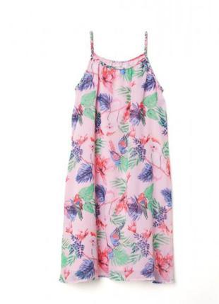 Платье шифоновое на 9-10лет h&m