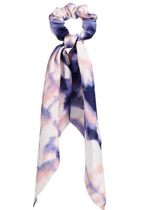 Трендовая резинка-твилли в стиле тай-дай/синий/розовый/новая коллекция