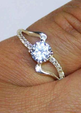 Кольцо серебро 925 проба 18 размер