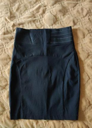 Юбка чёрная офис стиль школьная юбка карандаш ровная