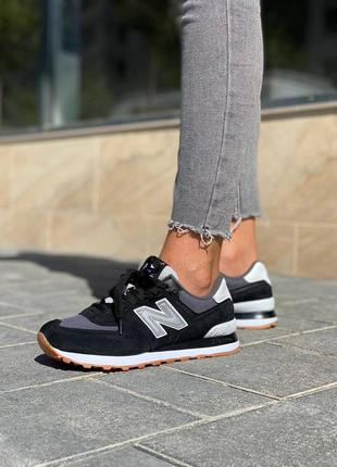 Кроссовки new balance 574 black grey