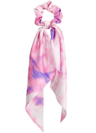 Трендовая резинка-твилли в стиле тай-дай/фиолетовый/розовый/новая коллекция