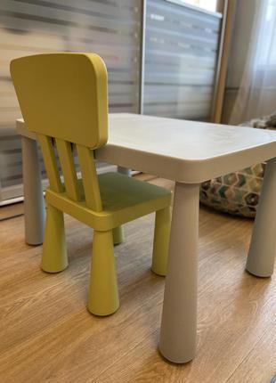 Детский стол и стул ikea mammut