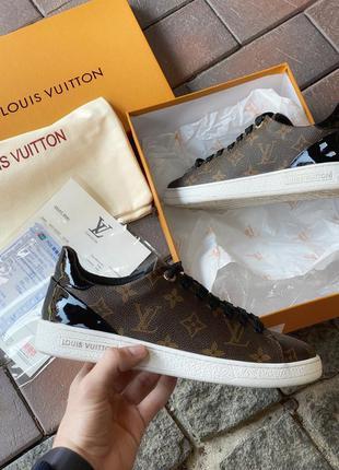 Кожаные женские кроссовки louis vuitton sneakers low, женские кеды