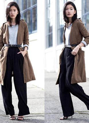 Широкие,натуральные брюки