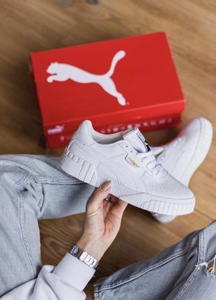 Женские кроссовки puma cali white, женские кеды