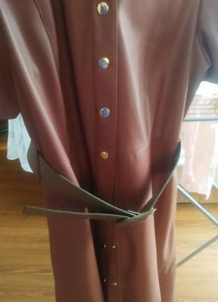 Плаття з екошкіри zara