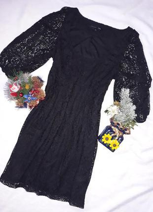 Чорне ажурне плаття