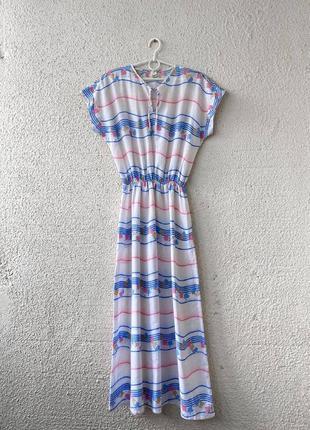 Винтажное макси платье