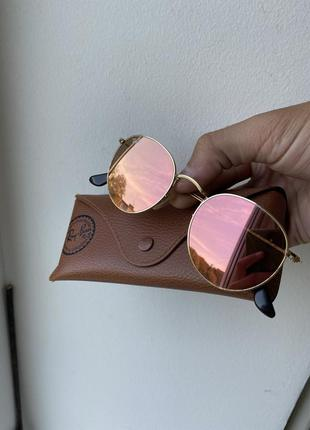 Очки солнцезащитные ray ban round metal
