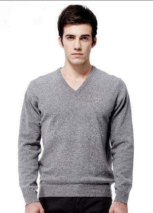 Мужской зимний свитер, полувер, джемпер gant