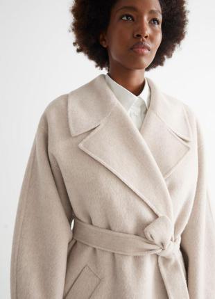 Шерстяное пальто оверсайз (есть размеры)