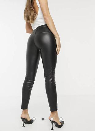 Лосины штаны легинсы под кожу матовые amisu