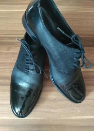 Потрясающие дизайнерские туфельки.кожа