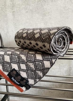 Оригинальный двухсторонний шарф barbour, one size, classic
