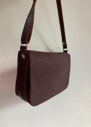 Кожаная сумка lavoks, бардовая сумочка кросс боди из натуральной кожи, базовая сумка кроссбоди