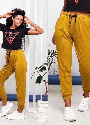 Спортивные штаны женские деми двухнить прогулочные джоггеры