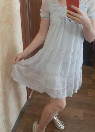 Нежнейшее шифоновое платье baby doll