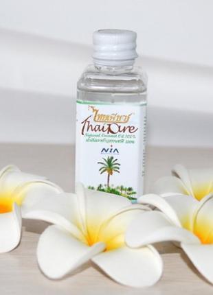 Натуральное кокосовое масло thai pure первого отжима,60мл
