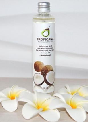 Натуральное кокосовое масло tropicana первого отжима,100мл