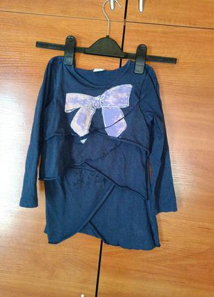 Котоновая туника платье с бантом бант