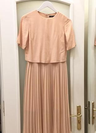 Плаття бренду zara woman powder pink crepe